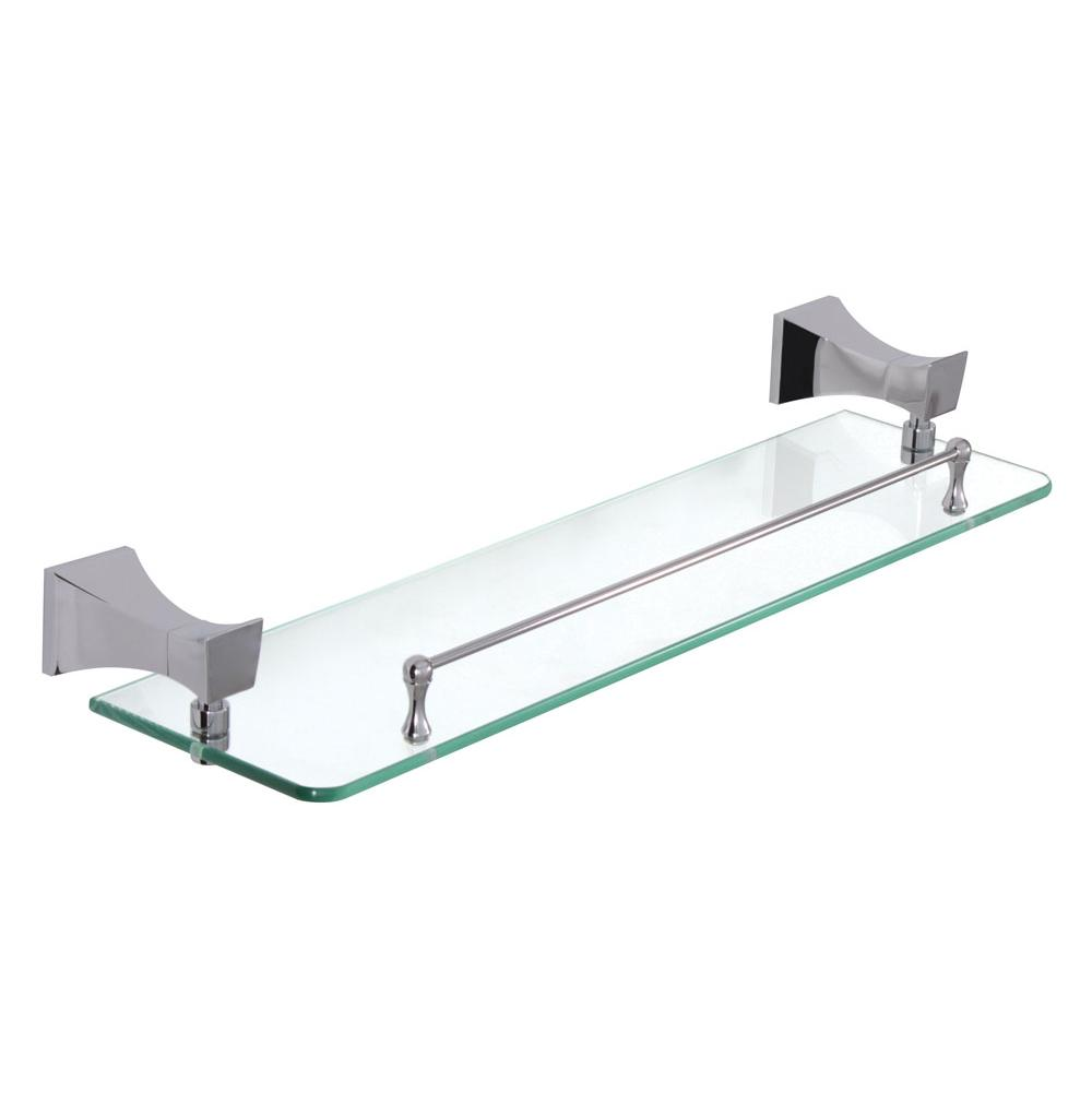 Aquabrass Bridge Glass Shelf 18'' X 4 3/4''