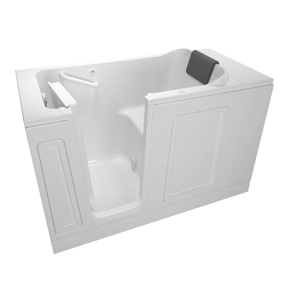 American Standard Acrylic Deluxe Series 30 in. x 51 in. Walk-In Bathtub with Air Spa system in White