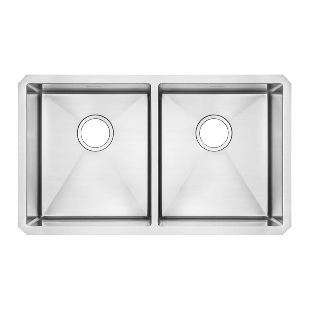 American Standard Pekoe Undermount 29x18 Double Bowl Kitchen Sink with included drain and bottom grid