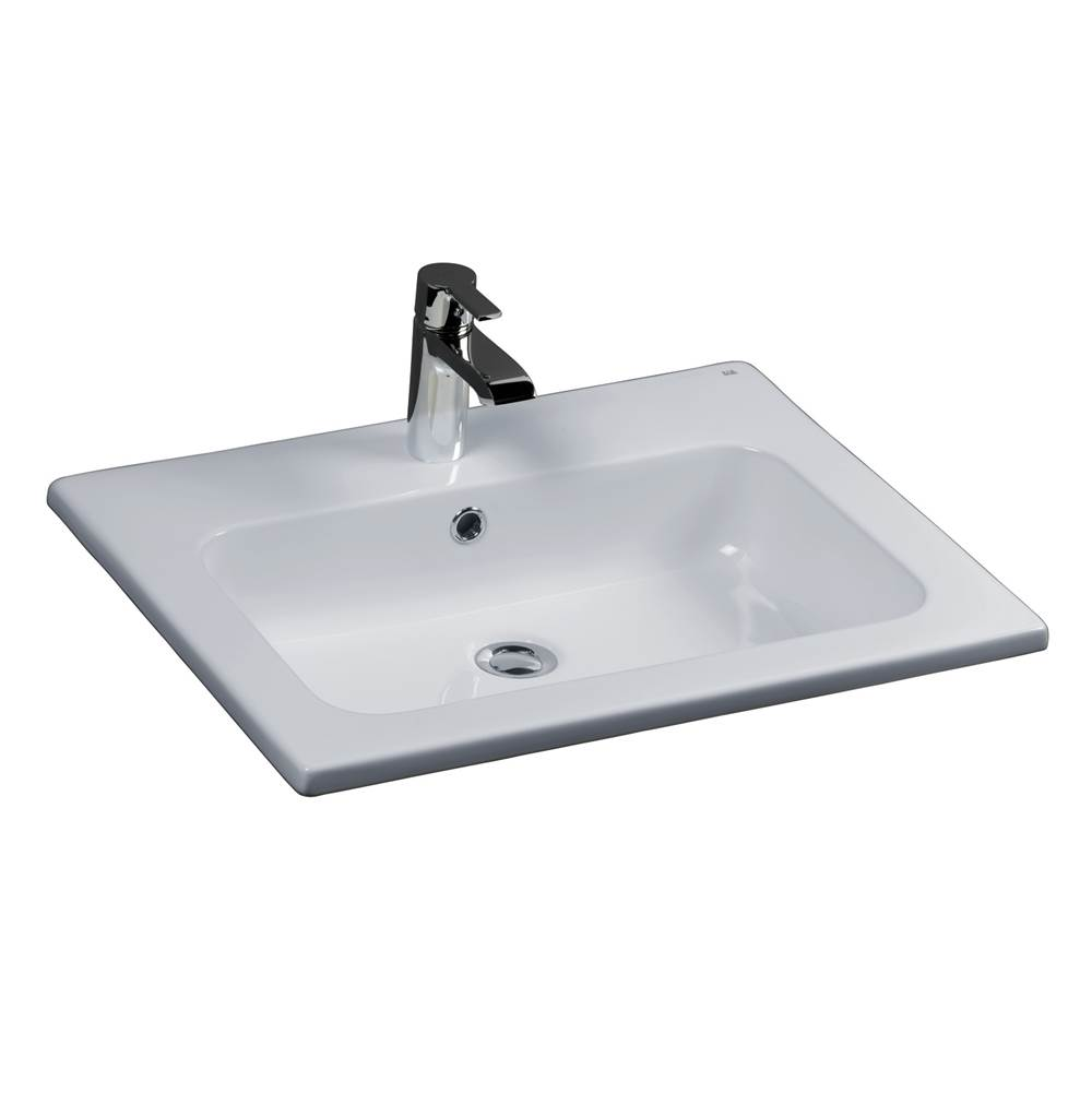 Barclay Cilla 24'' Drop-In Basin 8'' cc, White