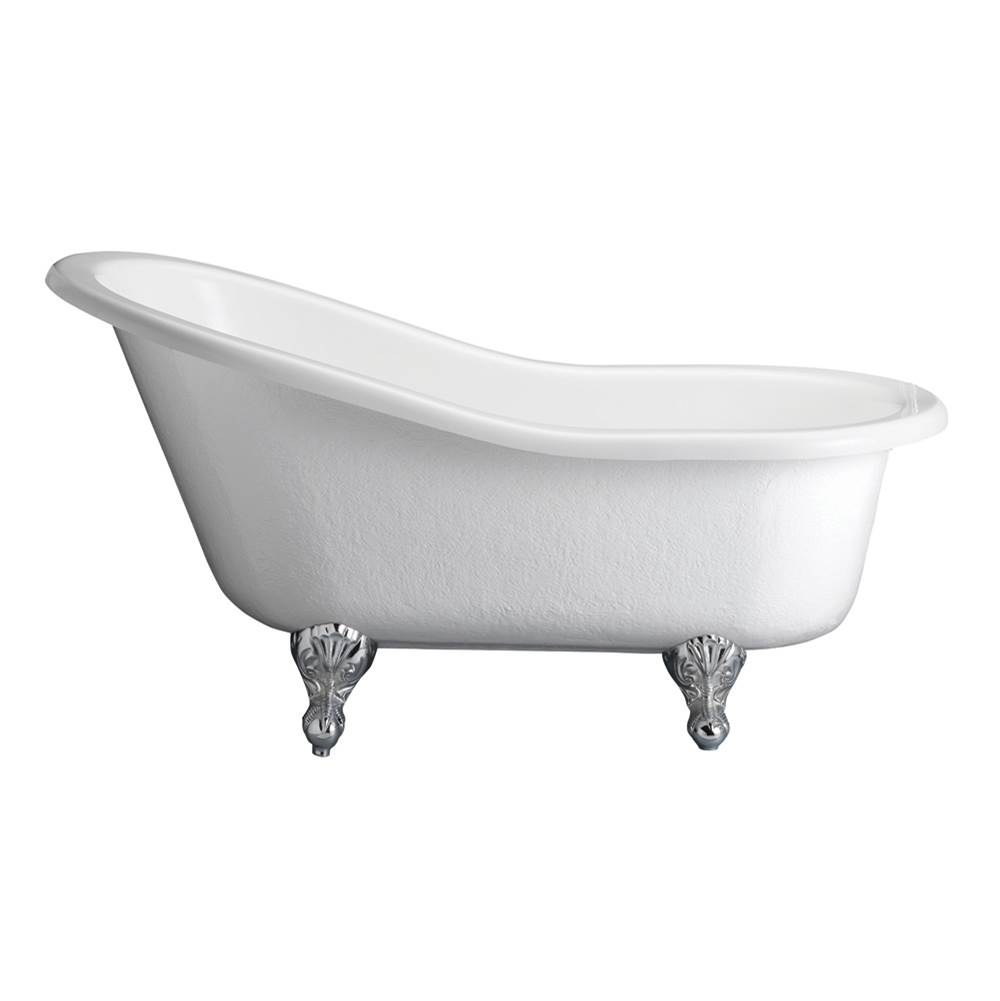 Barclay Estelle Acrylic Slipper Tub WH60'', No Holes, ORB Feet