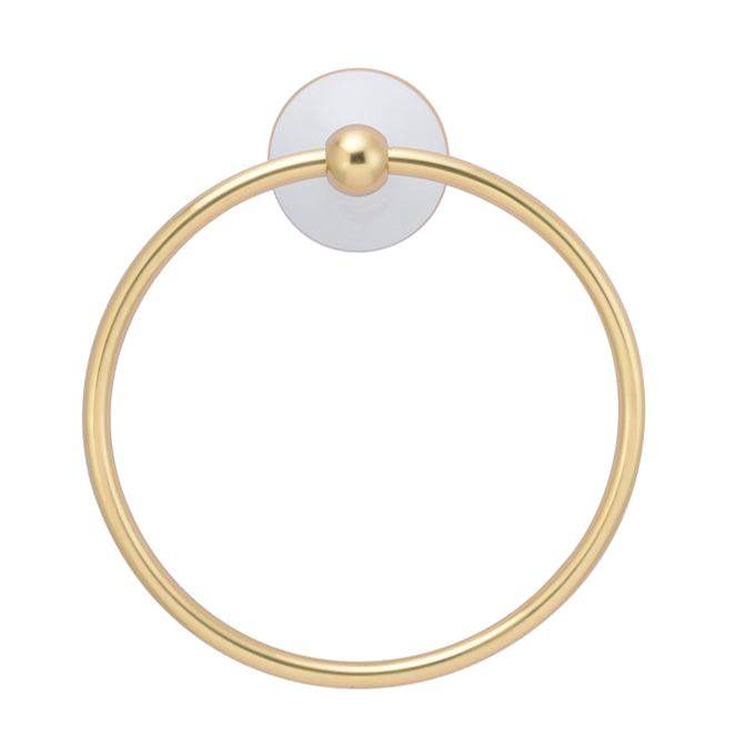 Barclay Anja Towel Ring, Antique Brass