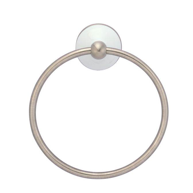 Barclay Anja Towel Ring, Brushed Nickel