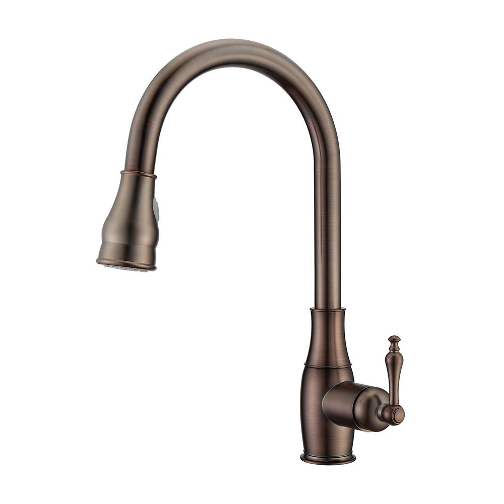 Barclay Caryl Kitchen Faucet,Pull-Out Spray, Metal Lever Handles,ORB