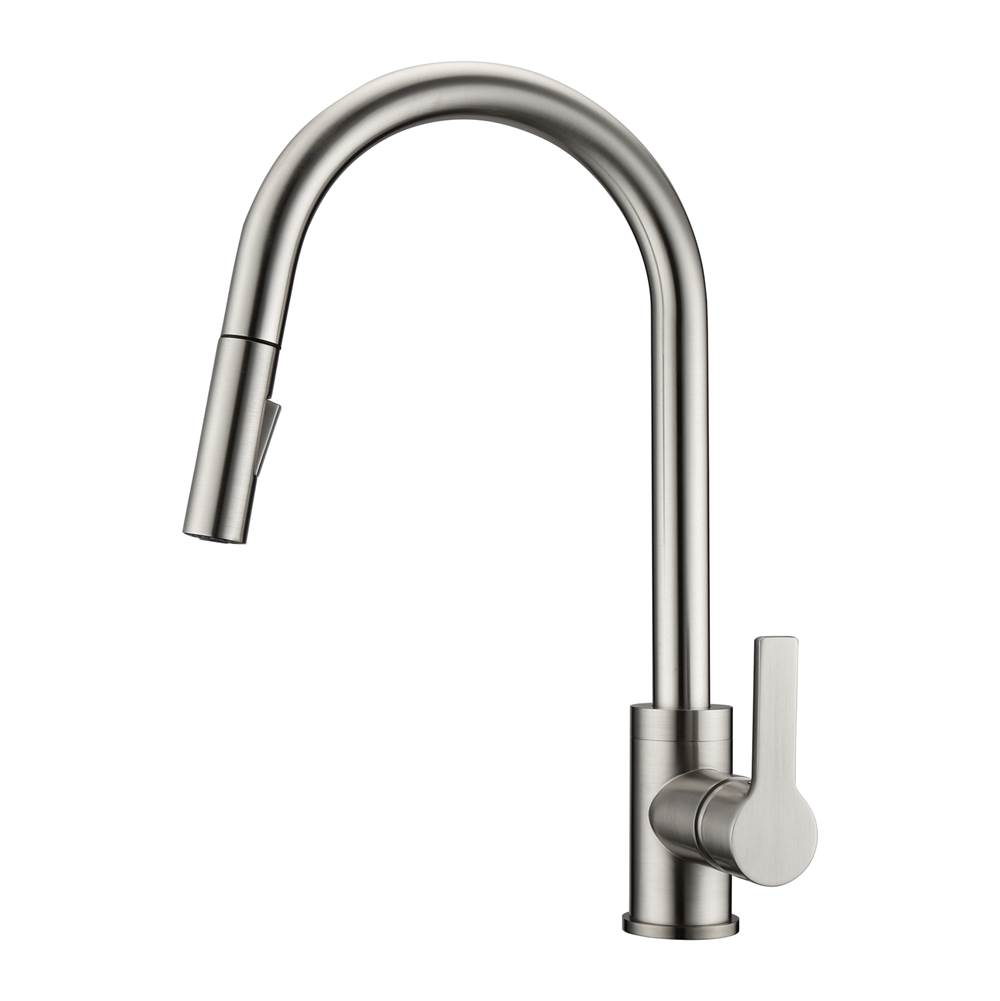Barclay Fenton Kitchen Faucet,Pull-out Spray, Metal Lever Handles,BN