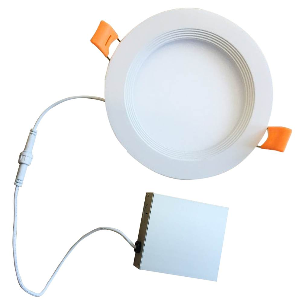 Bulbrite 18W Led 8'' Recessed Downlight W/ Metal Jbox and Baffle White Round Dimmable 90Cri 2700K 120V