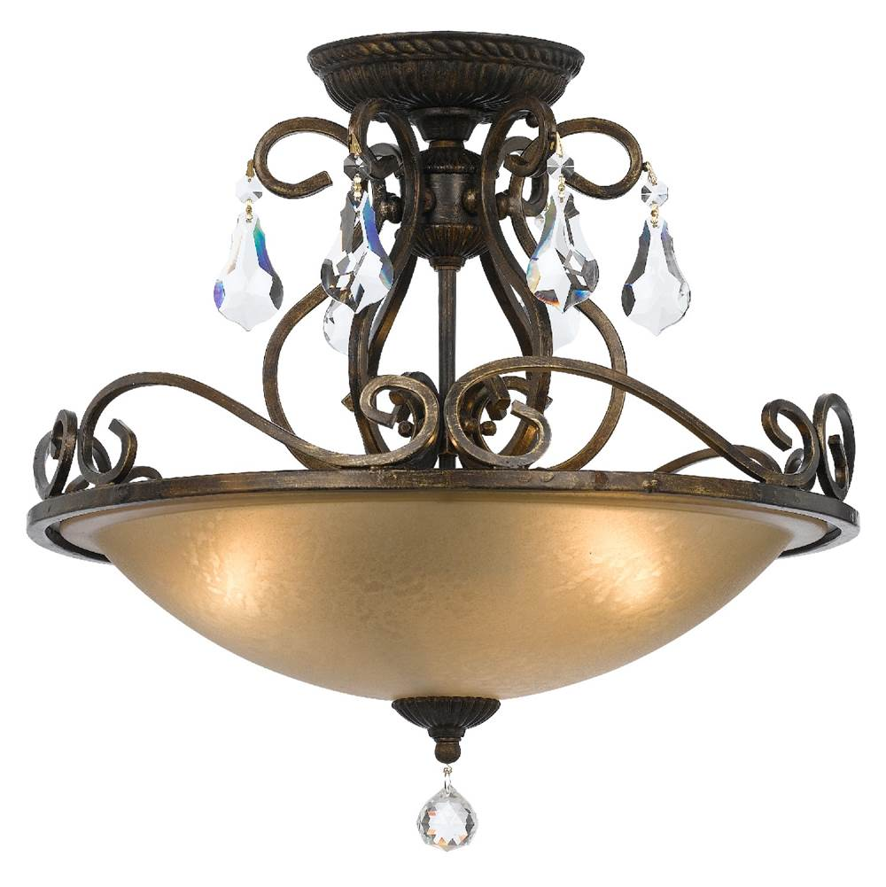 Crystorama Ashton 3 Light English BronzeCeiling Mount