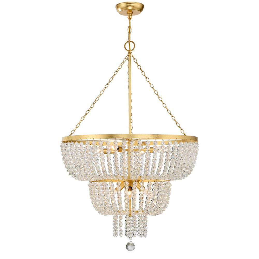 Crystorama Rylee 8 Light Antique Gold Chandelier