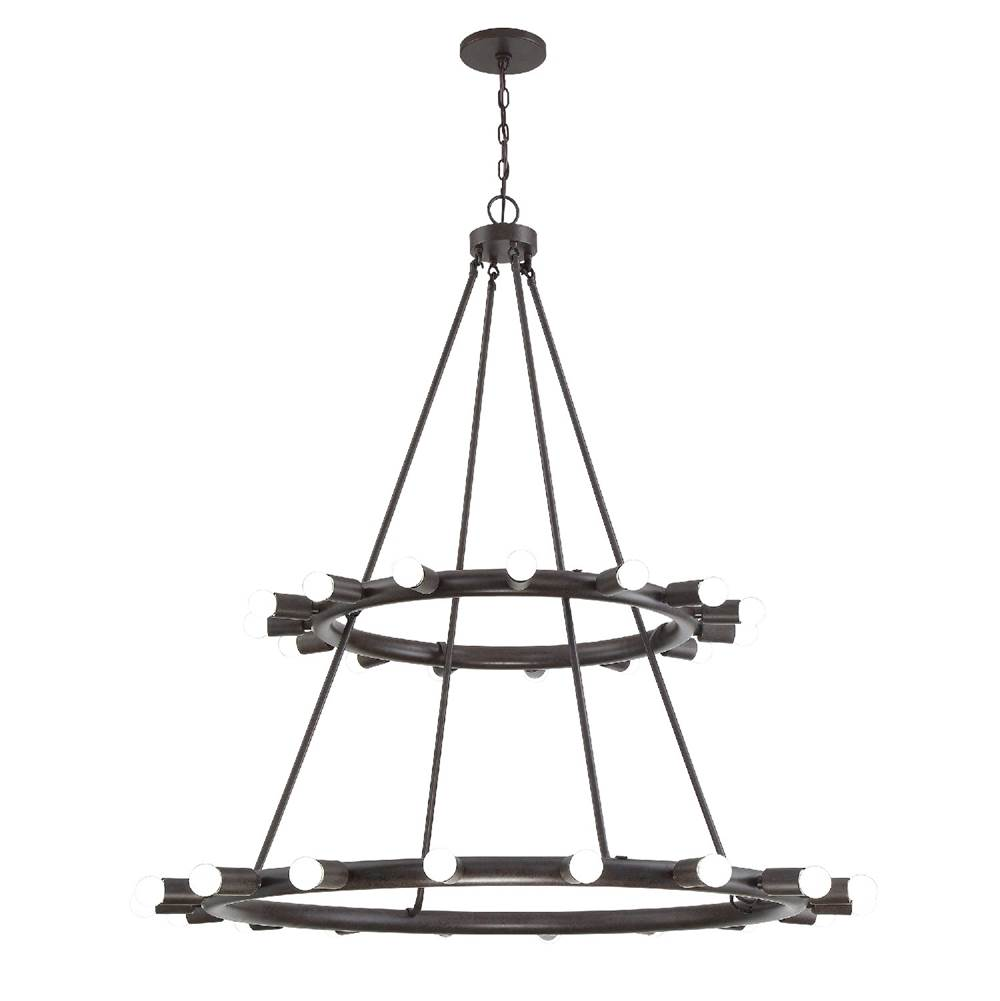 Crystorama Dakota 33 Light Bronze Chandelier