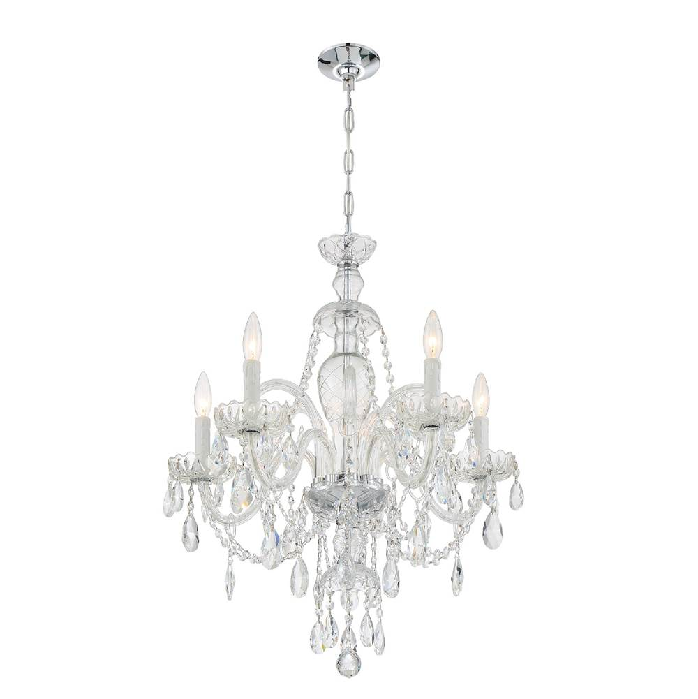 Crystorama Candace 5 Light Chrome Chandelier
