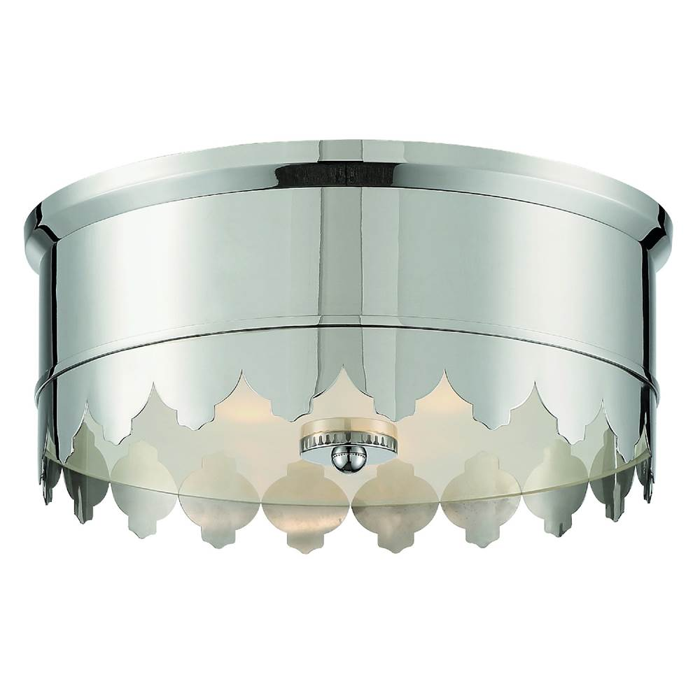Crystorama Nina 3 Light Polished Nickel Ceiling Mount
