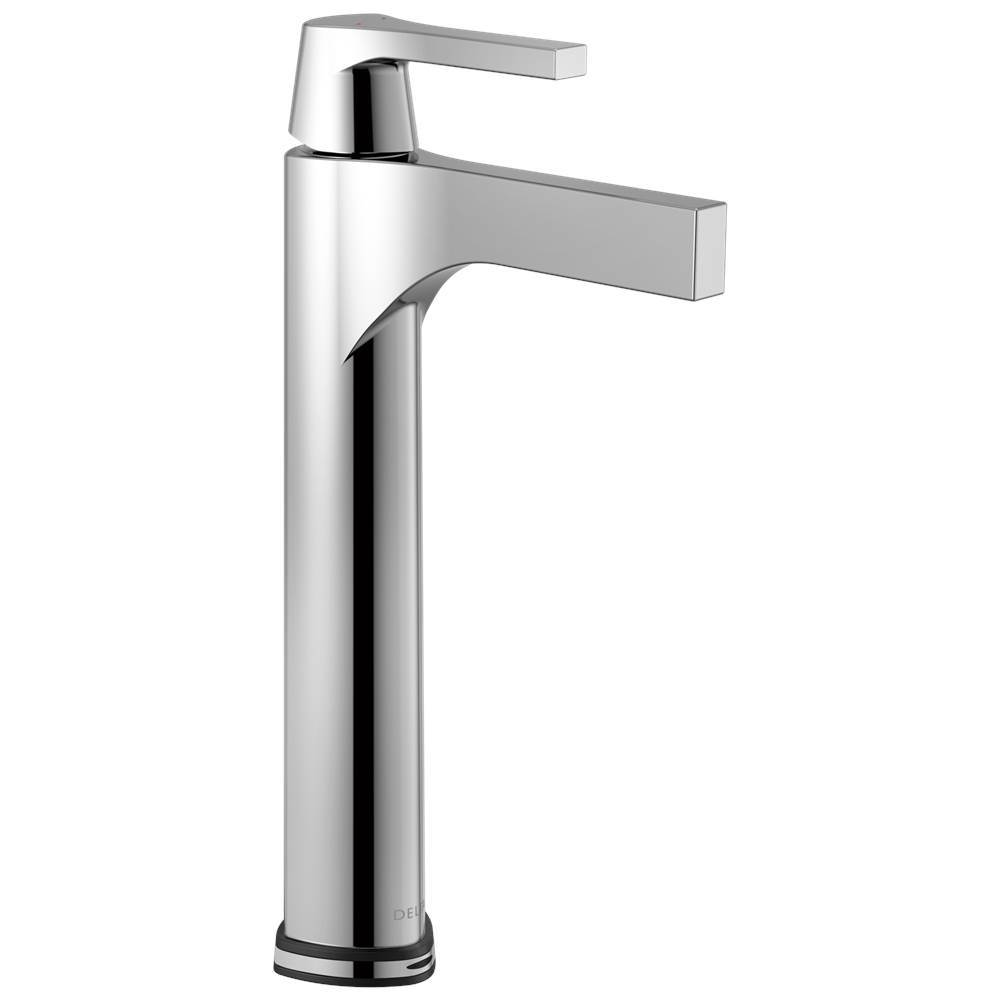 Delta Faucet Zura: Single Handle Vessel Bathroom Faucet with Touch2O.xt® Technology