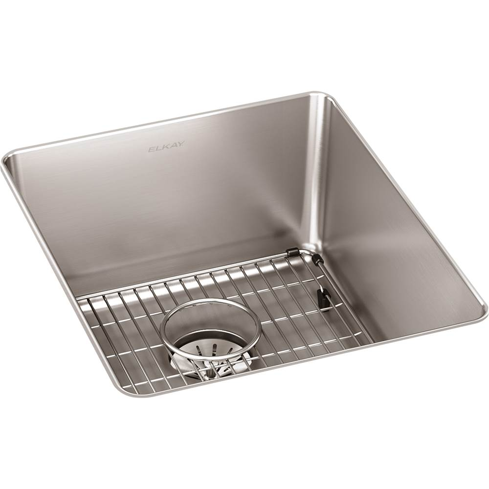 Elkay Reserve Selection Elkay Lustertone Iconix 16 Gauge Stainless Steel 16'' x 18-1/2'' x 8'' Single Bowl Undermount Sink Kit with Perfect Drain