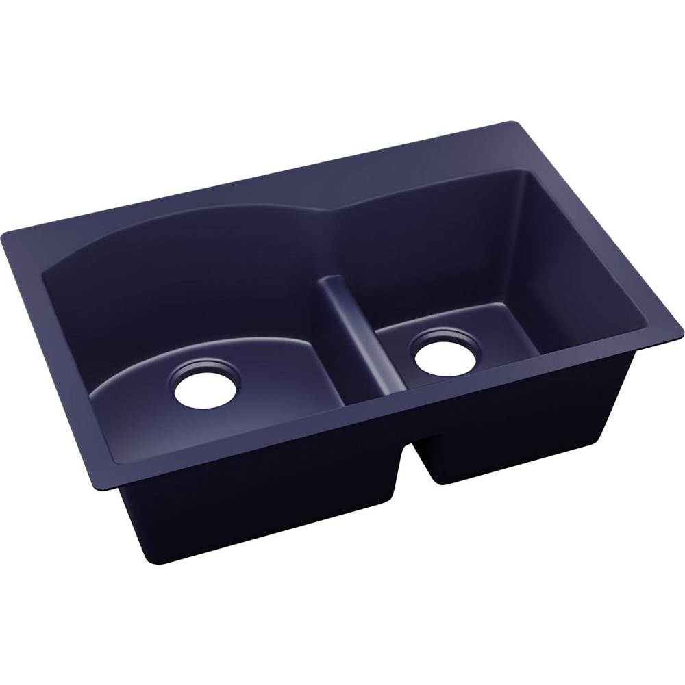 Elkay Reserve Selection Elkay Quartz Luxe 33'' x 22'' x 10'', Offset 60/40 Double Bowl Drop-in Sink with Aqua Divide, Jubilee