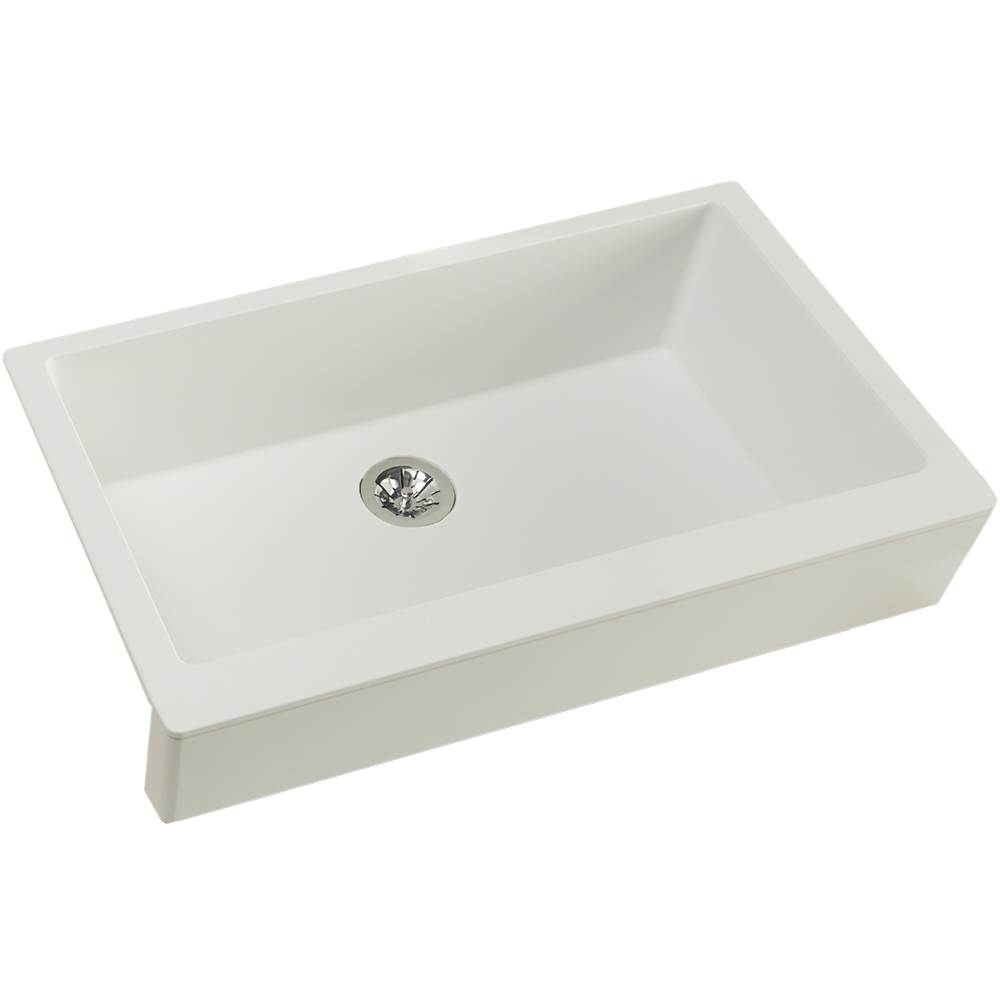 Elkay Reserve Selection Elkay Quartz Luxe 35-7/8'' x 20-15/16'' x 9'' Single Bowl Farmhouse Sink with Perfect Drain, Ricotta