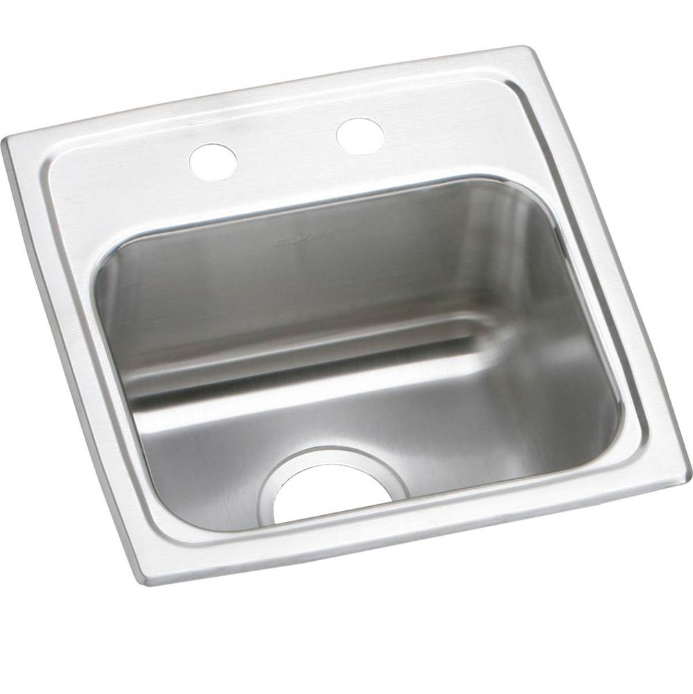 Elkay Elkay Lustertone Classic Stainless Steel 15'' x 15'' x 7-1/8'', Single Bowl Drop-in Bar Sink