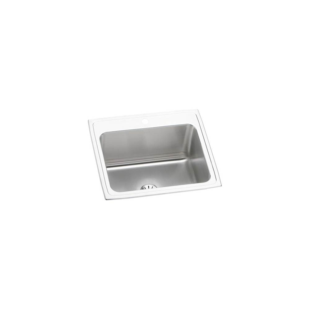 Elkay Elkay Lustertone Classic Stainless Steel 25'' x 22'' x 10-3/8'', Single Bowl Drop-in Sink with Perfect Drain