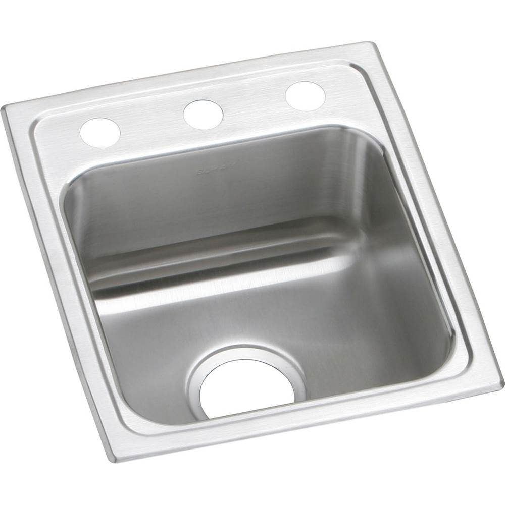 Elkay Elkay Lustertone Classic Stainless Steel 15'' x 17-1/2'' x 7-5/8'', Single Bowl Drop-in Bar Sink