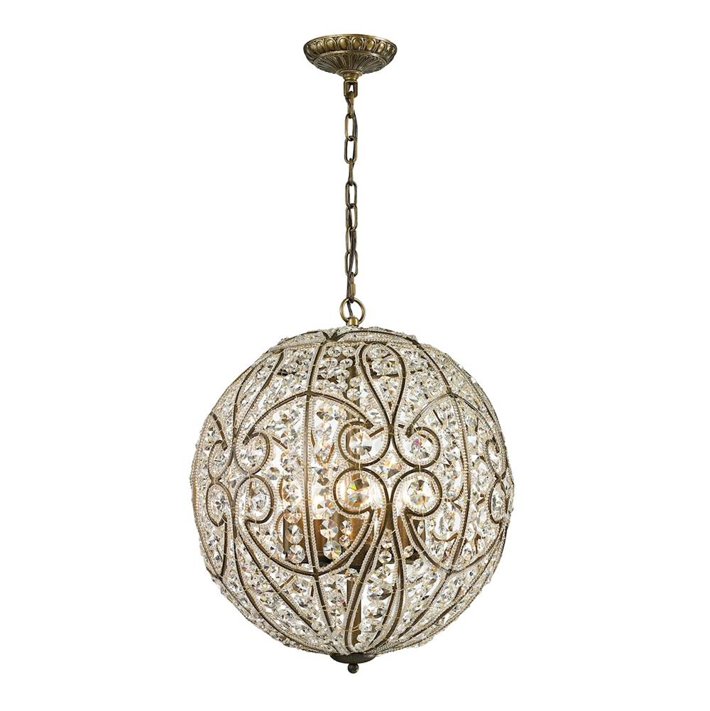 Elk Lighting Elizabethan 8-Light Chandelier in Dark Bronze with Crystal
