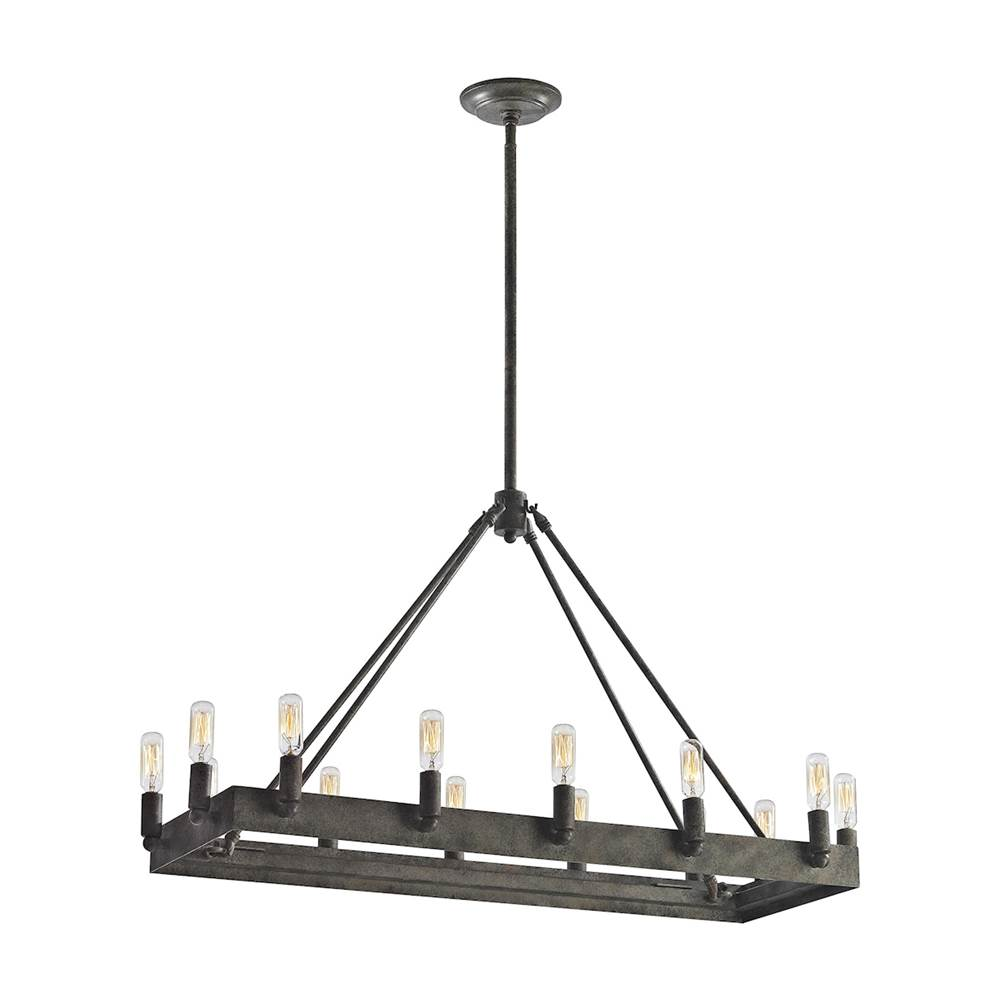 Elk Lighting Lewisburg 14-Light Chandelier in Malted Rust