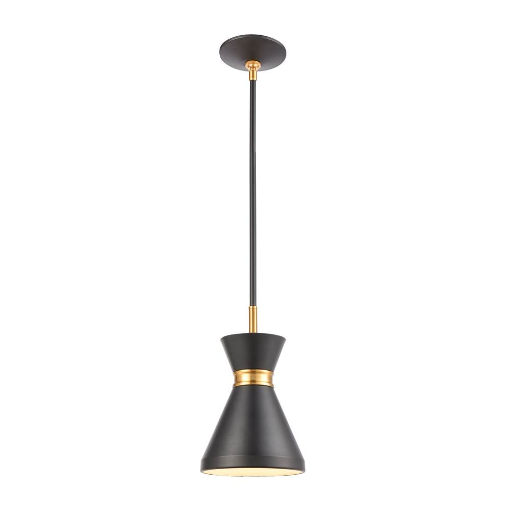 Elk Lighting Modley 1-Light Mini Pendant in Matte Black with Metal