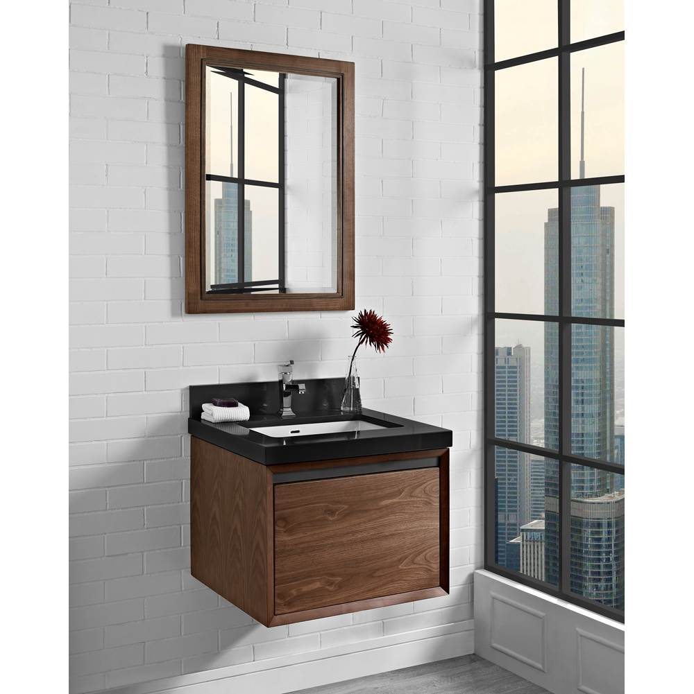 Fairmont Designs M4 24'' Wall Mount Vanity - Natural Walnut