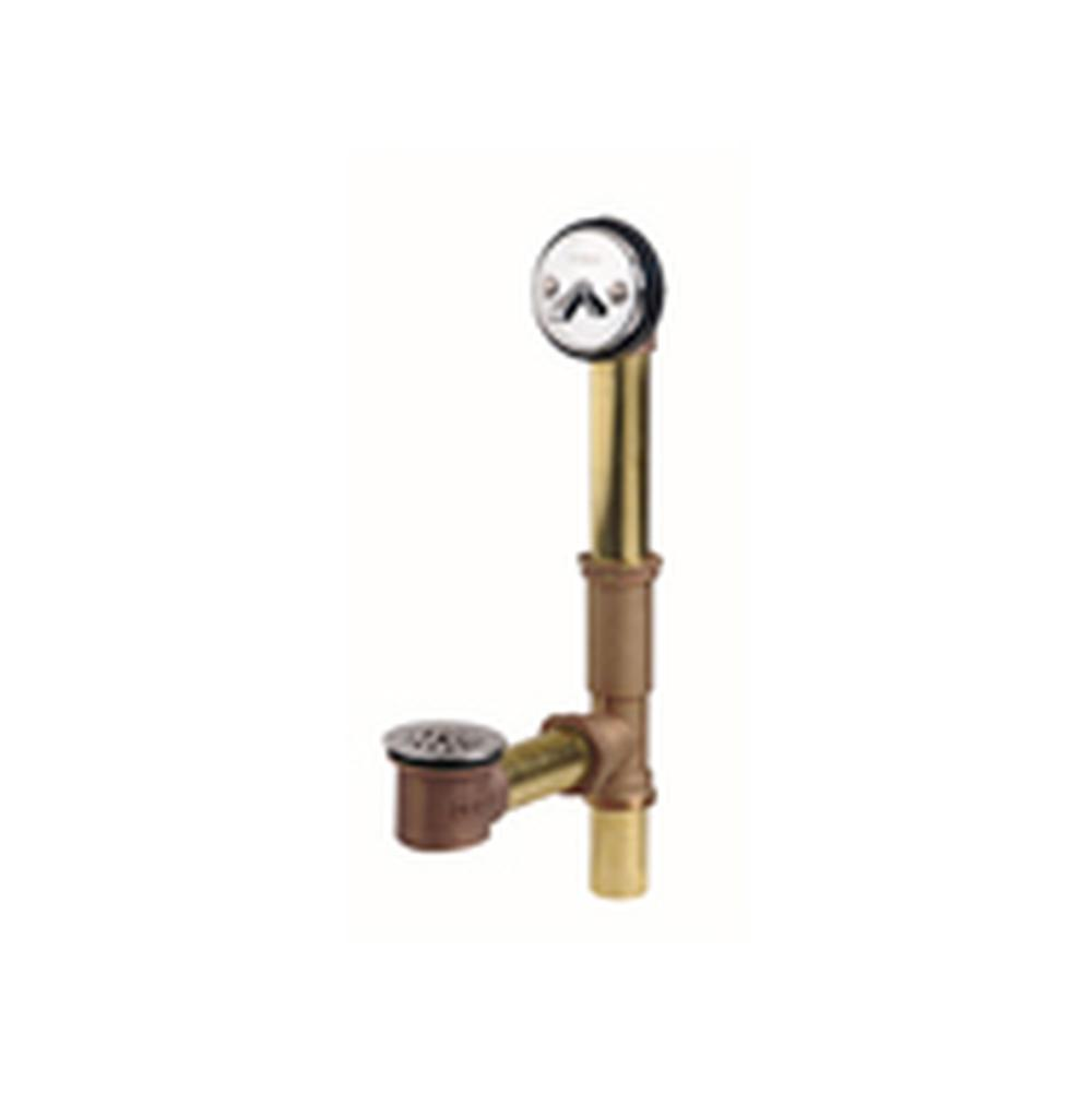 Gerber Plumbing Gerber Classics Trip Lever 20 Gauge Drain for Standard Tub with Brass Nuts Chrome