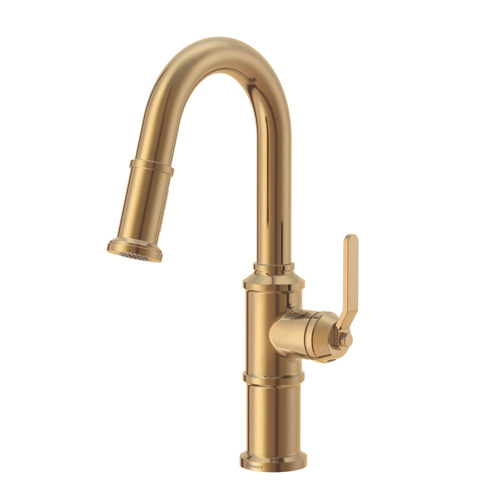 Gerber Plumbing Kinzie 1H Pull-Down Prep Faucet 1.75 gpm Brushed Bronze