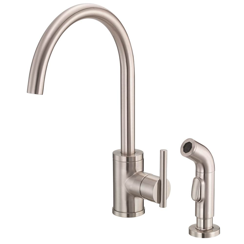 Gerber Plumbing Parma 1H Kitchen Faucet w/ Spray 1.75gpm Stainless Steel