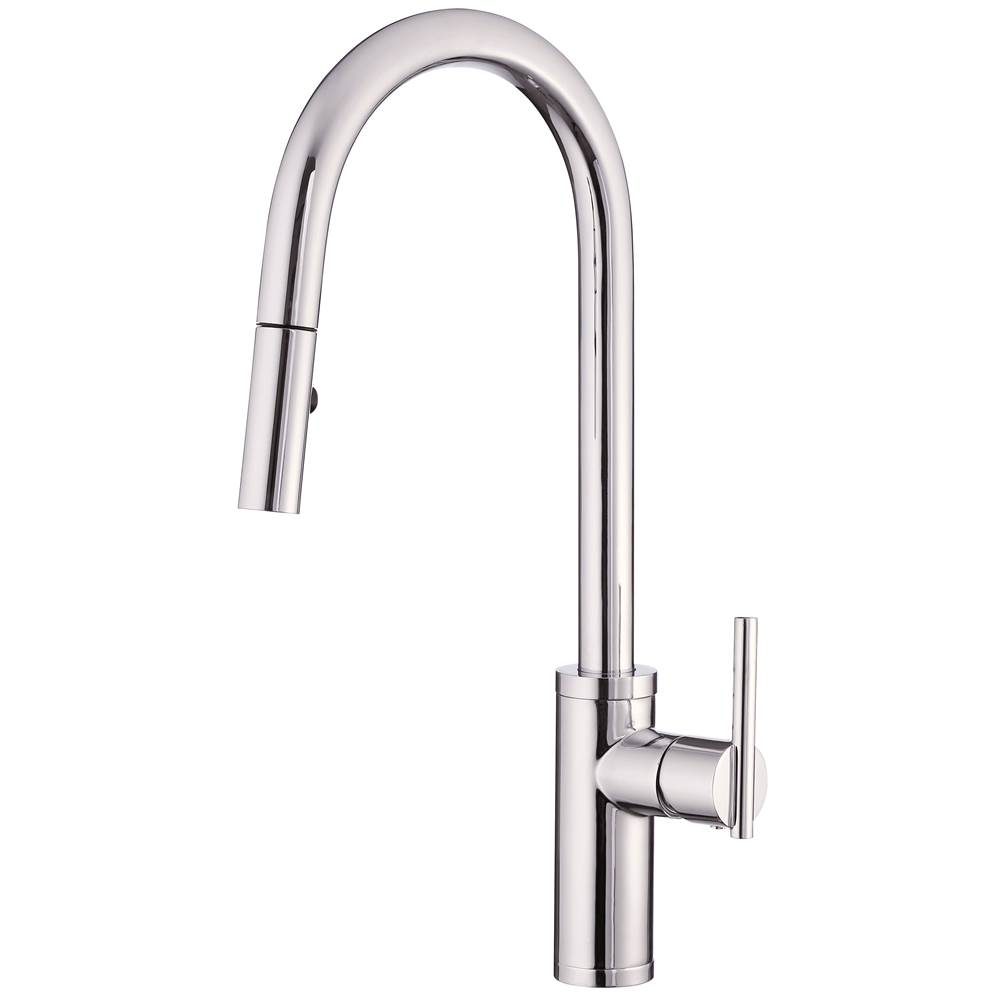 Gerber Plumbing Parma Cafe Pull-Down Kitchen Faucet w/ SnapBack Retraction 1.75gpm Chrome