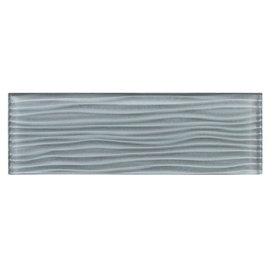 Glazzio Tile Crystile Wave 4x12 Wave in Gray Sky