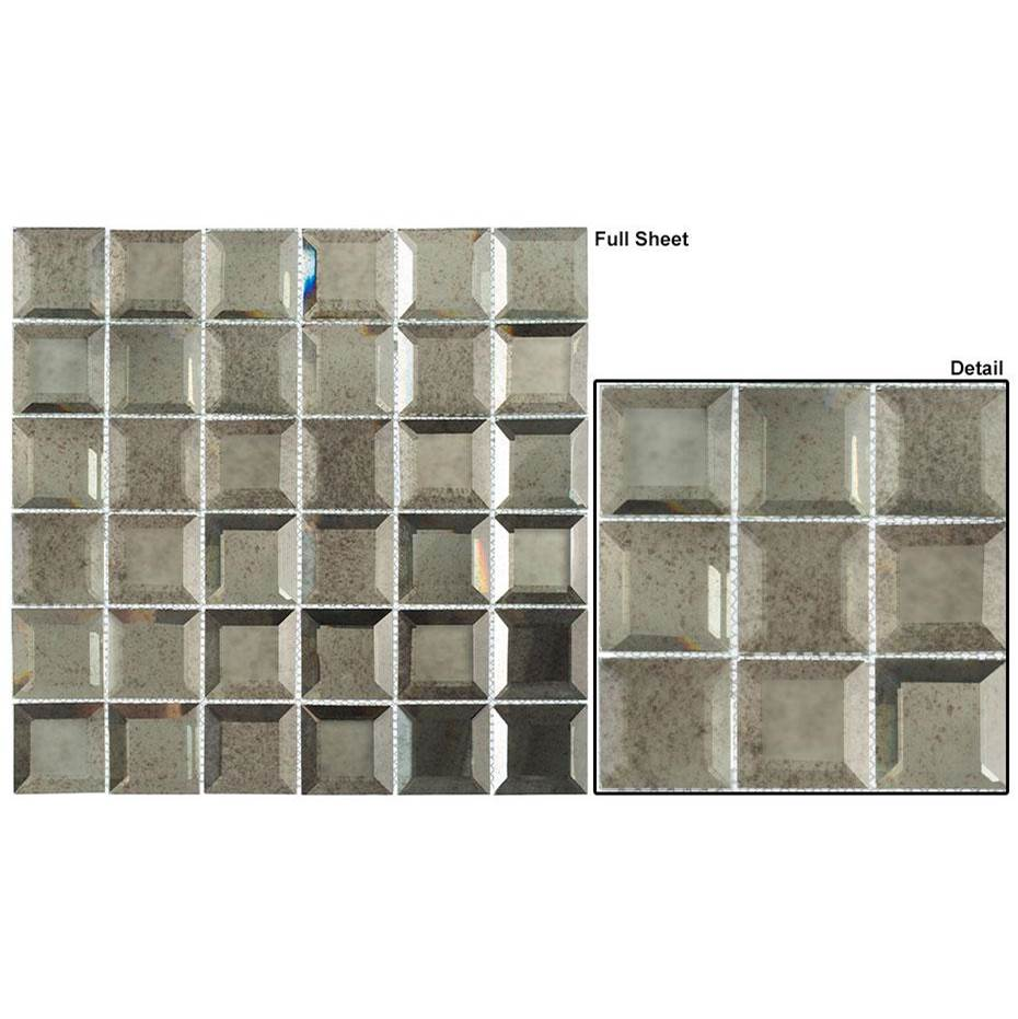 Glazzio Tile Checkers Mirrored 2x2 in Lifting Fog