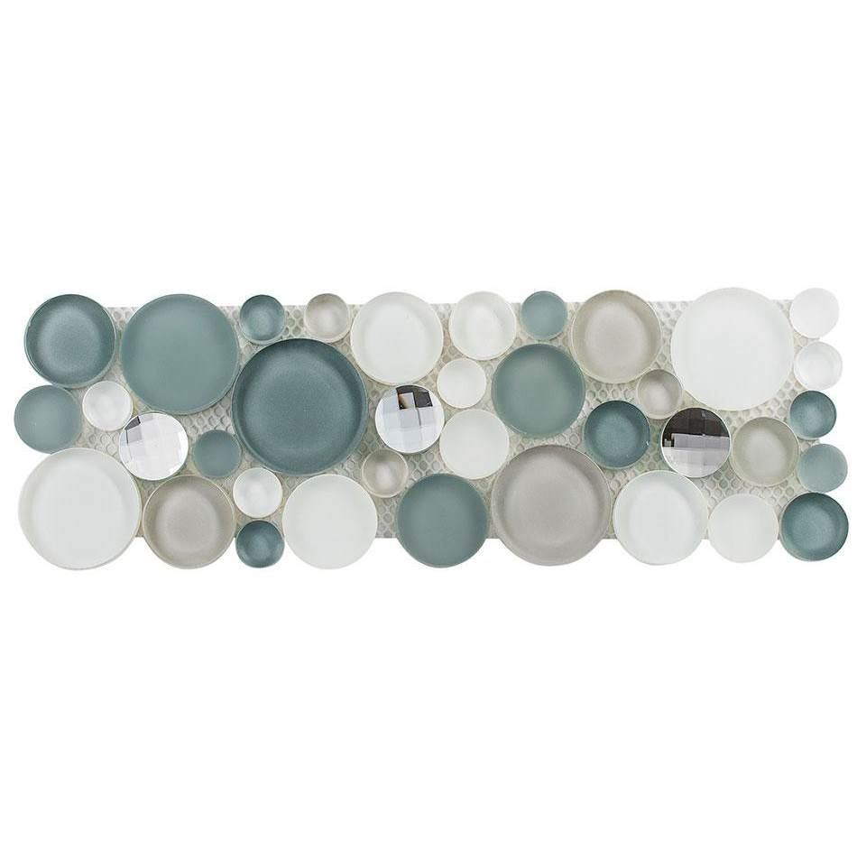 Glazzio Tile Symphony Bubble Multi Size Circles in Smokey Froth