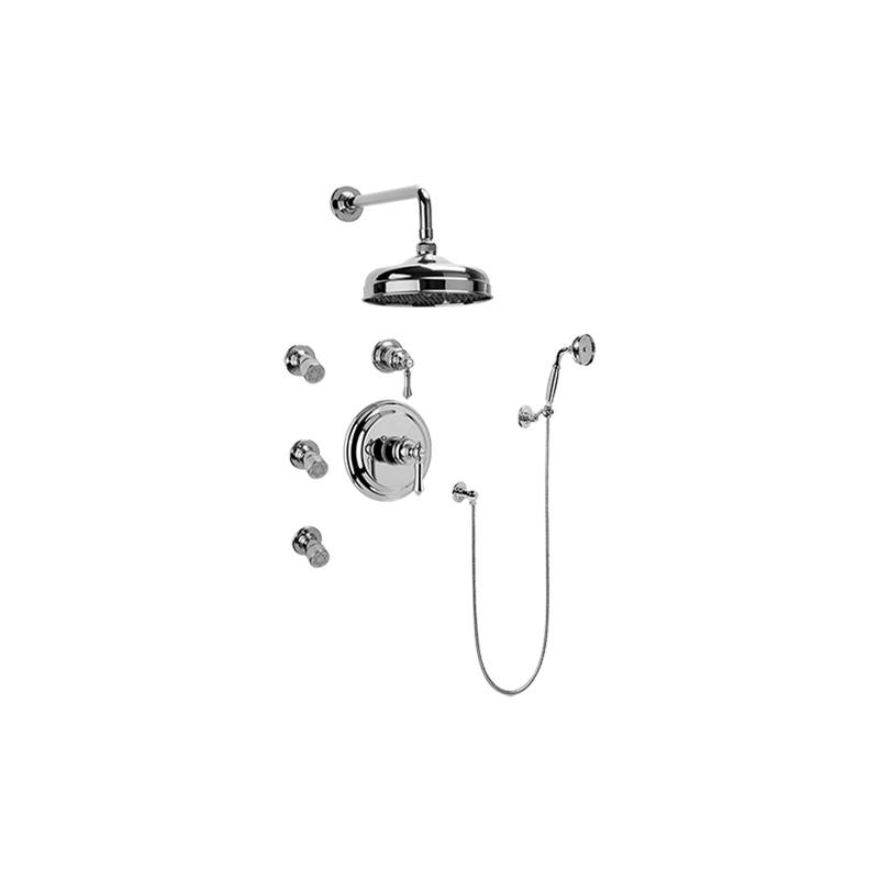 Graff Full Thermostatic Shower System with Transfer Valve (Rough & Trim)
