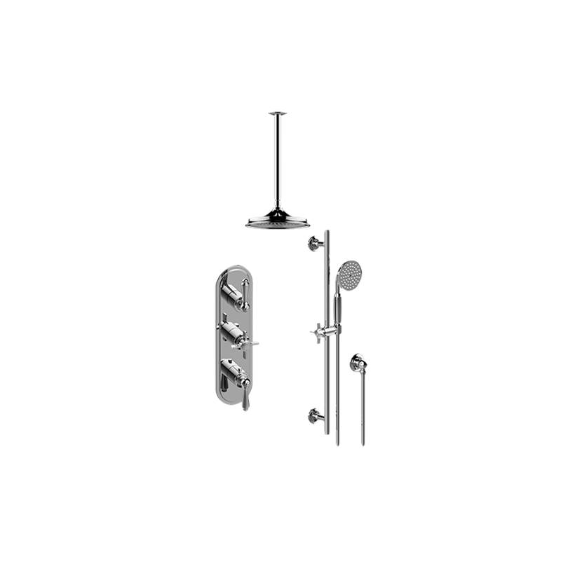 Graff M-Series Thermostatic Shower System - Shower with Handshower (Trim Only)