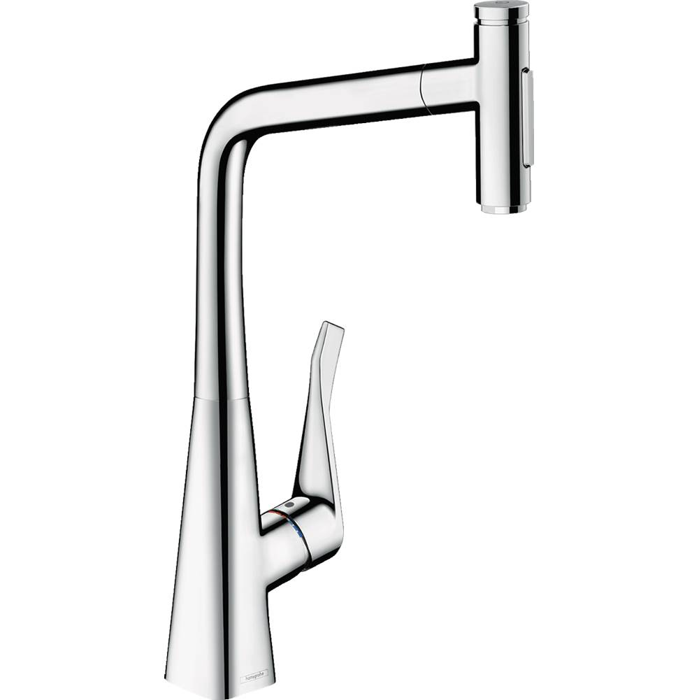 Hansgrohe Metris Select Higharc Kitchen Faucet, 2-Spray Pull-Out With Sbox, 1.75 Gpm In Chrome