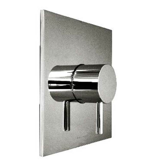 Harrington Brass Works Retro Thermostatic Trim With Solid Brass Square Plate And Single Handle