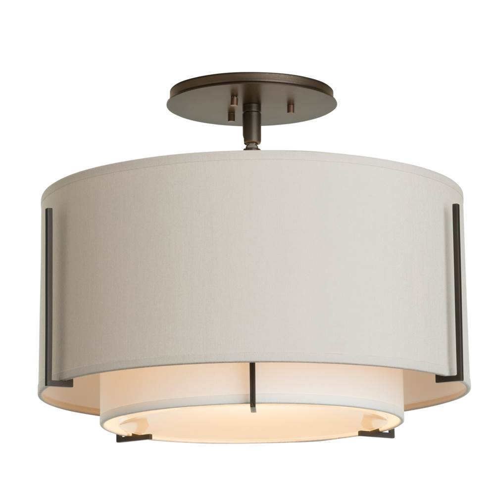 Hubbardton Forge Exos Small Double Shade Semi-Flush