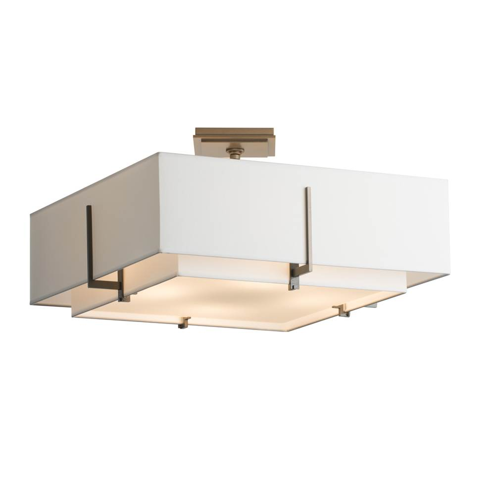 Hubbardton Forge Exos Square Double Shade Semi-Flush