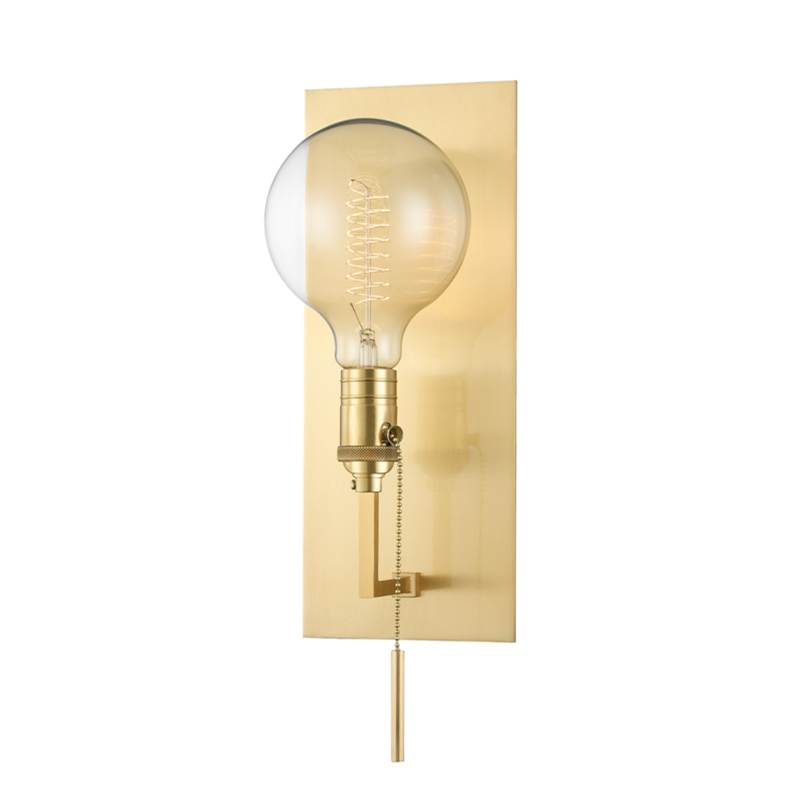 Hudson Valley Lighting Kramer 1 Light Wall Sconce In Aged Brass