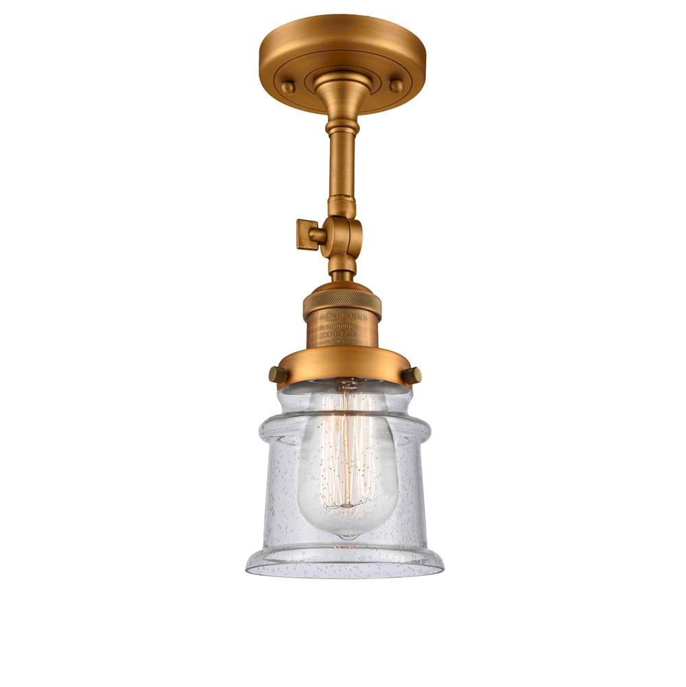 Innovations Small Canton 1 Light Semi-Flush Mount part of the Franklin Restoration Collection