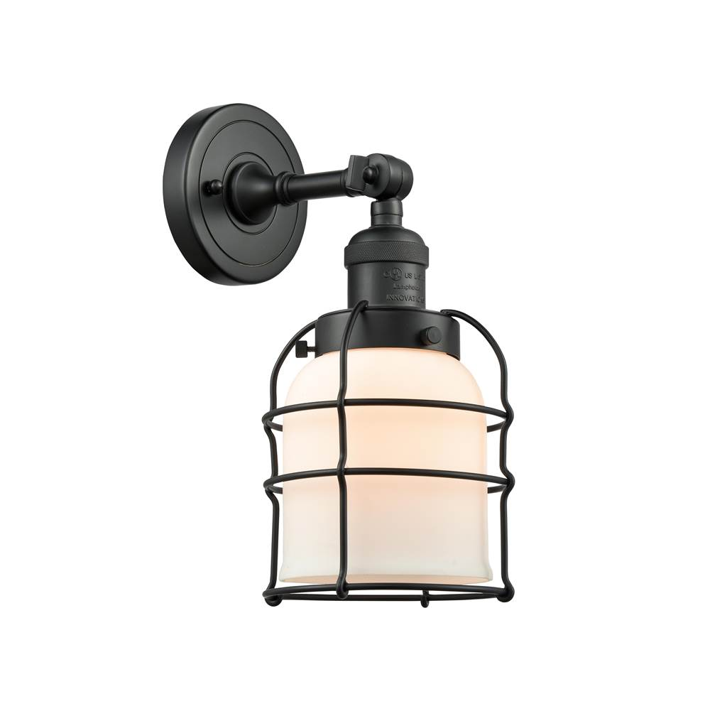 Innovations Small Bell Cage 1 Light Sconce part of the Franklin Restoration Collection