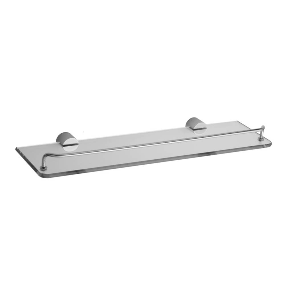 Jaclo Contempo II Glass Shelf with Wire Rail