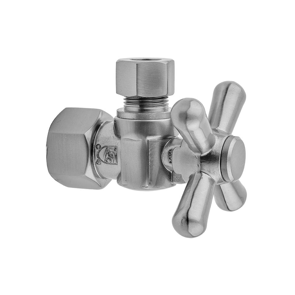Jaclo Quarter Turn Angle Pattern 3/8'' IPS x 3/8'' O.D. Supply Valve with Standard Cross Handle