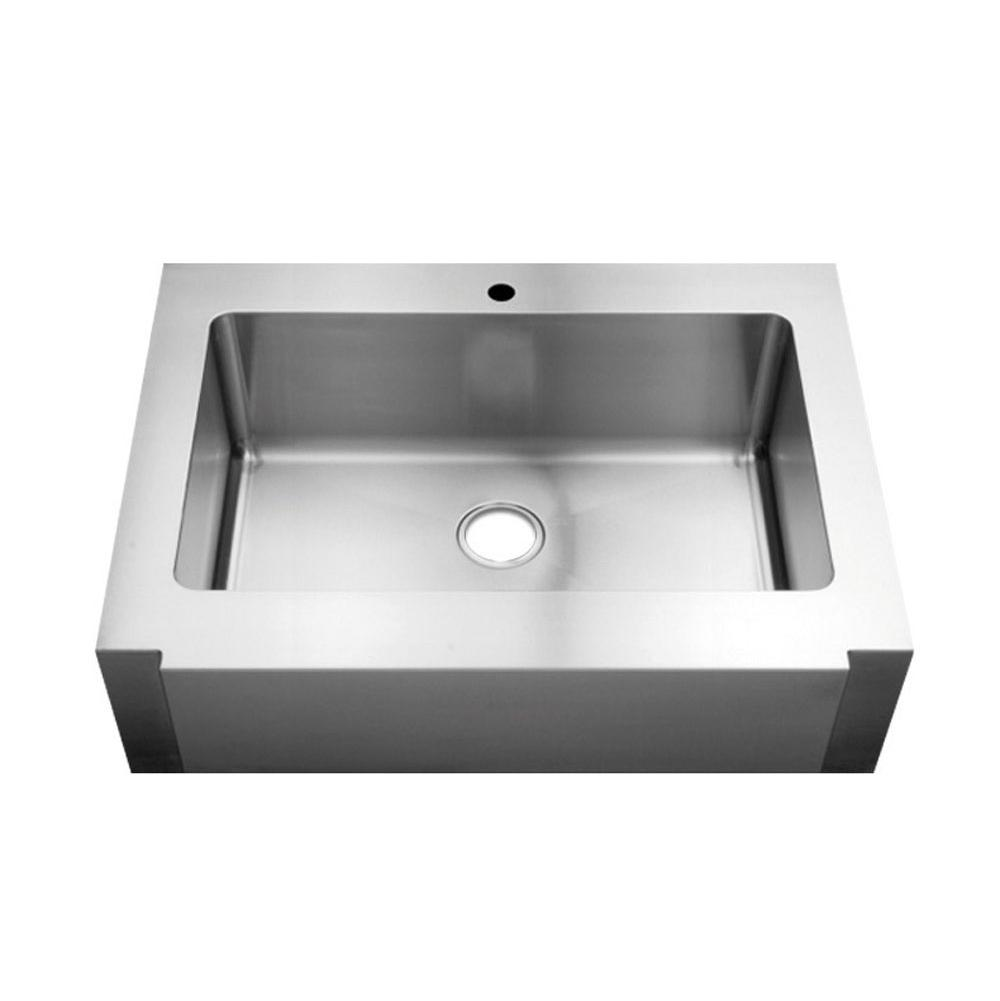 Home Refinements by Julien Classic+ Collection Farmhouse sink with single bowl