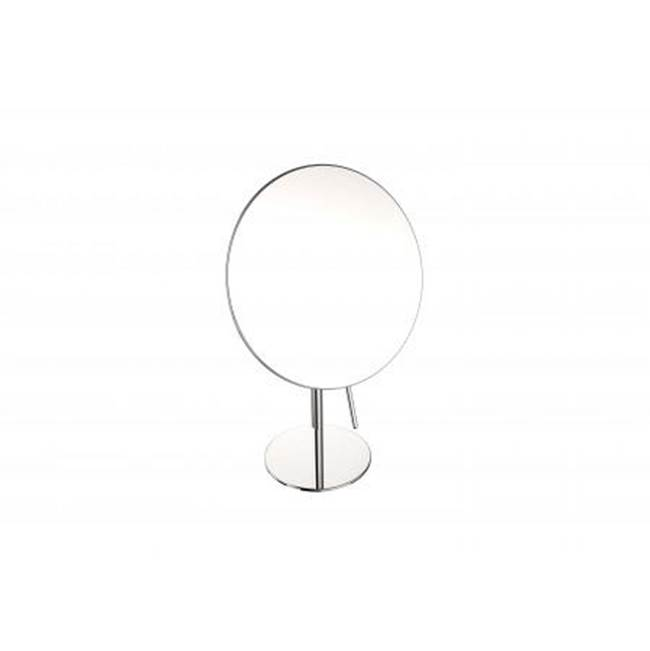 Kartners Free Standing Round Single Sided- Polished Chrome
