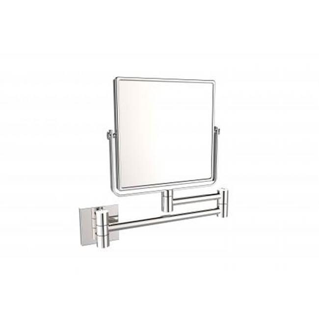 Kartners Wall Mounted 6 x 6''- Polished Chrome