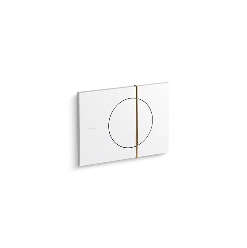 Kohler Note™ flush actuator plate for 2''x 4'' in-wall tank and carrier system