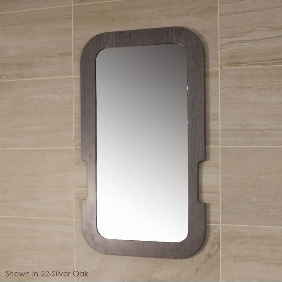 Lacava Wall- mount mirror in wooden frame. W: 20'', H:36''.