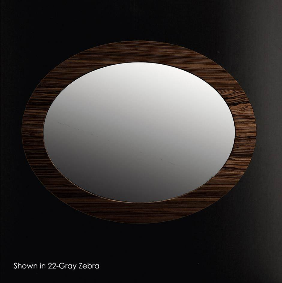 Lacava Wall-mounted mirror in wood frame, W: 27 3/4'' D: 1'' H: 35 1/2